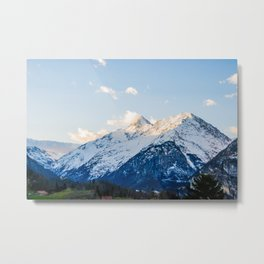 The Glowing Alps Metal Print