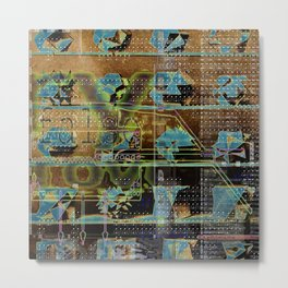 Glitch Cabinet Metal Print