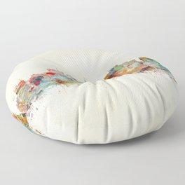 Madison Wisconsin  Floor Pillow