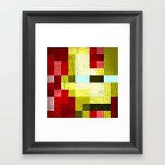 battle-damaged iron man Framed Art Print
