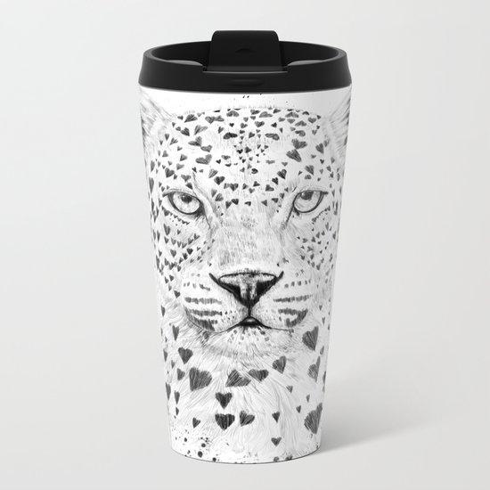 Lovely leopard Metal Travel Mug
