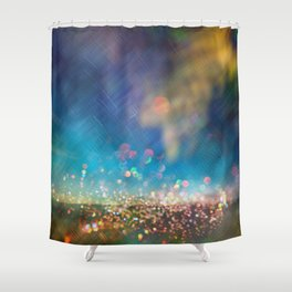 Fairy Dust Glitter Shower Curtain