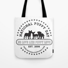 National Puppy Day Tote Bag