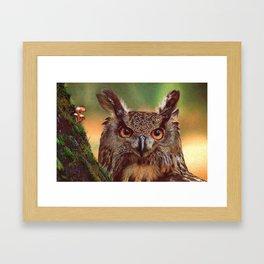 Eagle-Owl - ballpoint pen Framed Art Print