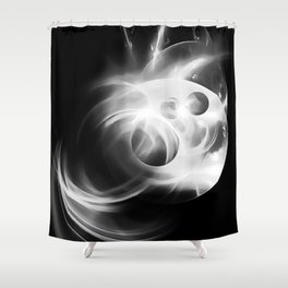 abstract fractals 1x1 reacbw Shower Curtain
