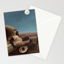 The Sleeping Gypsy by Henri Rousseau Stationery Cards