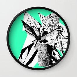 Green Glitch Scrunch Wall Clock