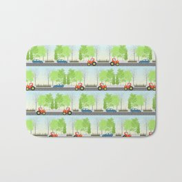 Cars and trees pattern Bath Mat