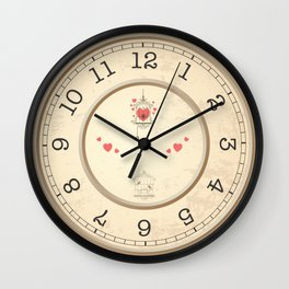 Wall clock heart Wall Clock