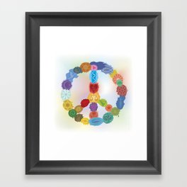 Peace Sign In Colors Framed Art Print