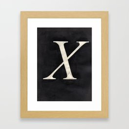 - X - Framed Art Print