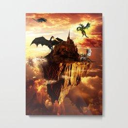 Flying Fantasy Land Metal Print