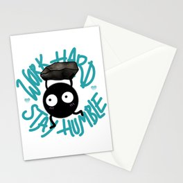 SOOT SPRITE - Work Hard, Stay Humble Stationery Cards