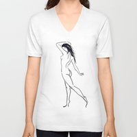 grace V-neck T-shirts featuring Grace by Balance Works