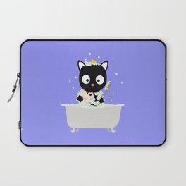 Bathing Cat in a bathtub Laptop Sleeve
