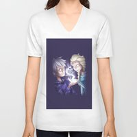 jack frost V-neck T-shirts featuring Frost Buddies by TheCakeIsSisley