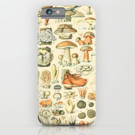 Mushroom Diagram // Champignons II XL by Adolphe Millot 19th Century Science Textbook Artwork iPhone Case