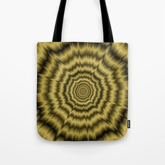Eye Boggling Explosion in Gold Tote Bag