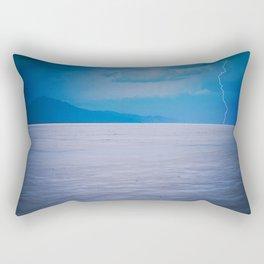 Lightning on the Utah Salt Flats Rectangular Pillow