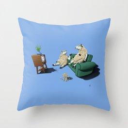 Sheep (Colour) Throw Pillow