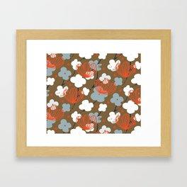 Spring Garden M+M Nutmeg by Friztin Framed Art Print