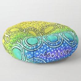 Rainbow Doodle Floor Pillow