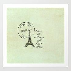 White Paris is Always a Good Idea Audrey Hepburn  Art Print