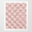 XOXO Kiss Me Rose Gold Pattern by naturemagick