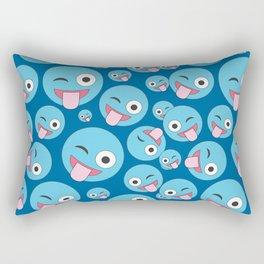Crazy Wink and Sticking Tongue Out Rectangular Pillow