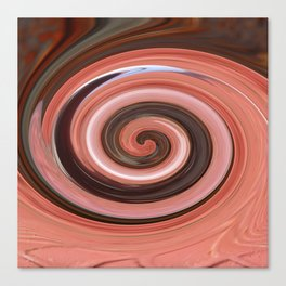 Swirl 01- Colors of Rust / RostArt Canvas Print
