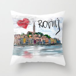 I love Rovinj Throw Pillow