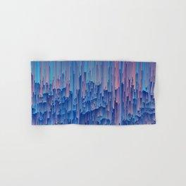 Glitchy Rain - Abstract Digital Piece Hand & Bath Towel