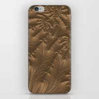 renaissance iPhone & iPod Skins featuring Renaissance Brown by Charma Rose