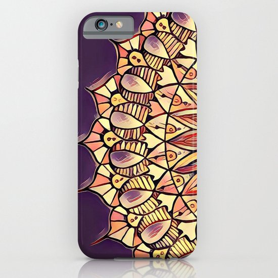 Bloom Mandala in Plum iPhone & iPod Case