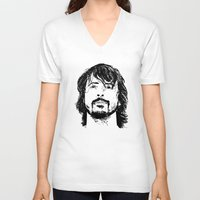dave grohl V-neck T-shirts featuring Dave Grohl - Legend by Matty723