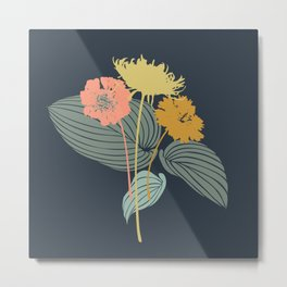 Mod Floral Metal Print