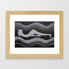 Black and white 6 Framed Art Print