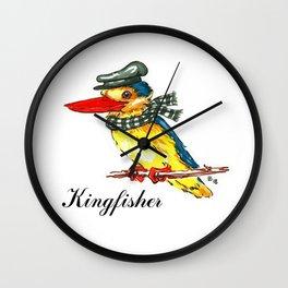 Fancy Kingfisher Wall Clock