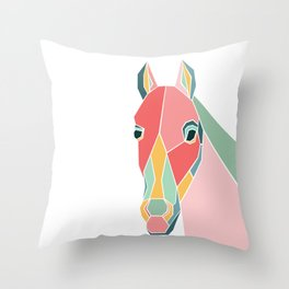 Graphic Horse Throw Pillow