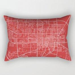Gainesville Map, USA - Red Rectangular Pillow