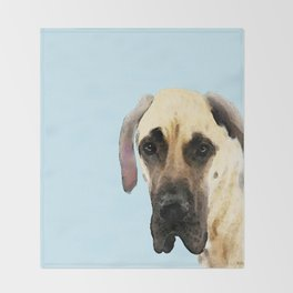 Great Dane Art - Dog Painting by Sharon Cummings Throw Blanket