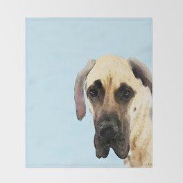 Great Dane Art - Dog Painting by Sharon Cummings Throw Blanket