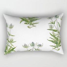 Botanical illustration Wild Teasel Rectangular Pillow