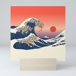 The Great Wave of Shiba Inu Mini Art Print