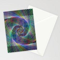 Fractal spiral Stationery Cards