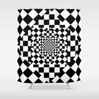 chess Shower Curtains featuring Chess Board by Cs025