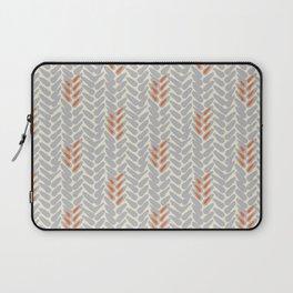 Orange and Grey Wheat Pattern Laptop Sleeve