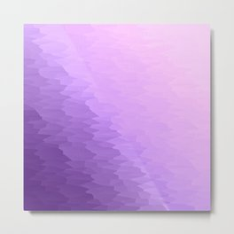 Lavender Texture Ombre Metal Print