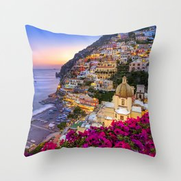 Positano Amalfi Coast Throw Pillow