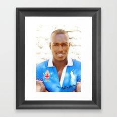 African smile Framed Art Print